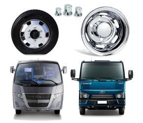 """Kit Calotas Caminhão 3/4 e Ônibus aro 17,5"""" Bepo Speedline"""